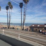 The beach is just a hop across the street (view from the ocean view deck)
