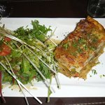 Marvelous salad with King Crab Lasagna