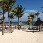 Beach with palapas