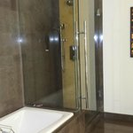 Nice shower with handshower and overhead