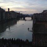 View down the Arno from the Vassari Corridor