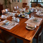 Breakfast table...family style