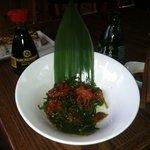 Fresh baby octopus salad