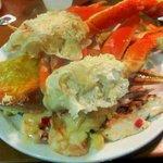 Snow crab, shrimp/scallops, Blackened Mahi mahi