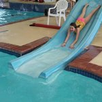 Waterslide at the indoor pool