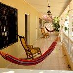 Comfy hammocks outside every room.