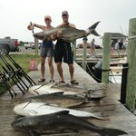 6 fish limit=360lbs ; Largest 92lbs