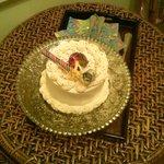 My birthday cake provided by cindy.