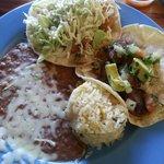 White fish taco and mignon taco