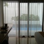 View from bedroom to the private plunge pool