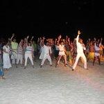 white Fest en la playa