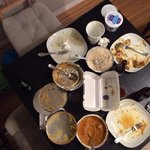 The aftermath of a great curry dinner!