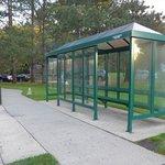 マンハッタンからのバス停