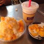 Mango Shaved Ice, Mixed Fruit Tapioca Drink and Mango Sticky Rice
