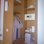 Wardrobe with safe & fridge