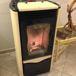 寒い日の暖炉
