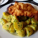Good Schnitzel at Cafe Bellaria