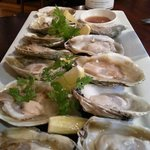 Bluff oysters in season and the wonderful riesling to boot.