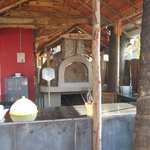 hand-made wood-oven...