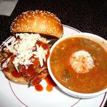Pulled Porc Sandwich with Louisiana Gumbo