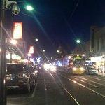 Tram heading into Gleneg square