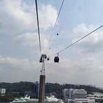 view from cable car singapore