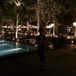 Pool looking towards the Vietnamese restaurant