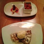 Vanilla bean creame burlee & Warm Apricot & almond shortcake