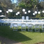 grassed area for weddings