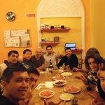 Manuel and his guests enjoying aperitivo