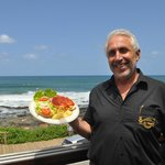 The owner Trevor with the breathtaking sea veiws.