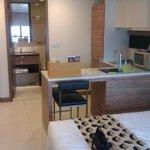 Studio apartment - kitchette & bathroom