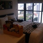 Studio apartment - bed and view