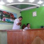 Recepção do hotel Costa Verde