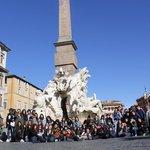 Grupo SEECGalicia en la Piazza Navona
