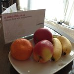 fruits provided by hotel