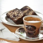 Chocolate Biscuit Cake with an espresso.
