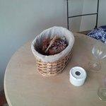 Dead pot-plant on table