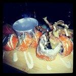 Spider Roll- Soft shell crab,avocado & wasabi mayo