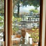 panorama giardino dalla veranda delle colazioni