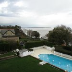 Pool and IoW coast from room