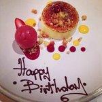 The Birthday Girls dessert