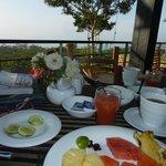 Breakfast on the restaurant terrace
