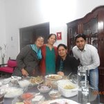 Myself with Mrs. Wali and my friends