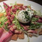 Endive, poached egg, pancetta & croutons