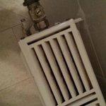 dirty radiator in bathroom