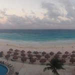 view from our room in evening
