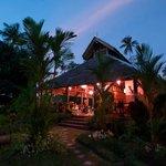 The restaurant at dusk