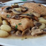 Chicken Marsala with gnocchi