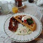 Sunday Breakfast - homemade Belgian waffles!